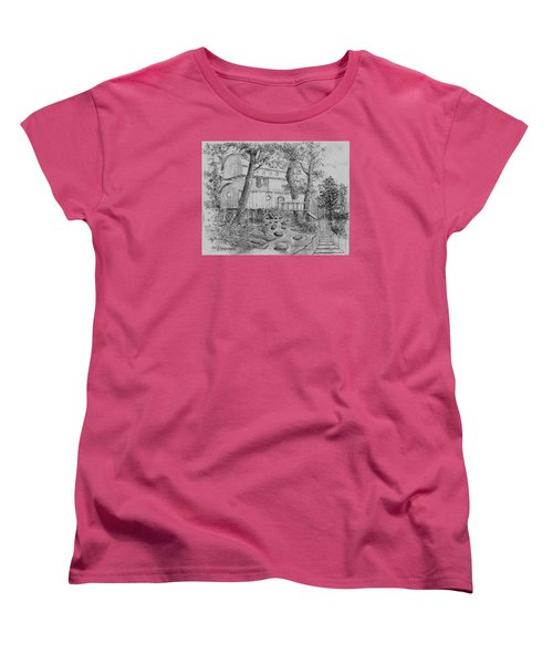 Women's T-Shirt (Standard Cut) featuring the drawing Tree House #5 by Jim Hubbard