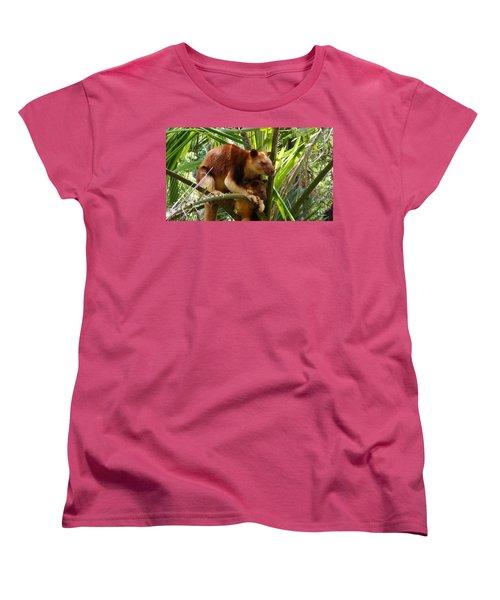 Tree Kangaroo 1 Women's T-Shirt (Standard Cut) by Gary Crockett