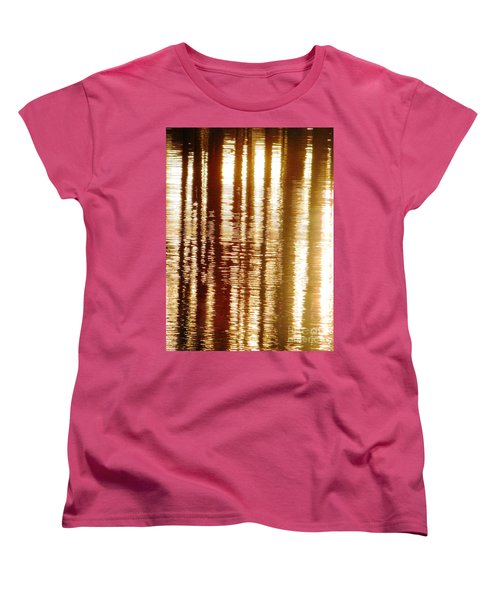 Trees On Rippled Water Women's T-Shirt (Standard Cut) by Melissa Stoudt
