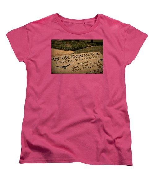 Tribute To The Cowboy Women's T-Shirt (Standard Cut) by Toni Hopper