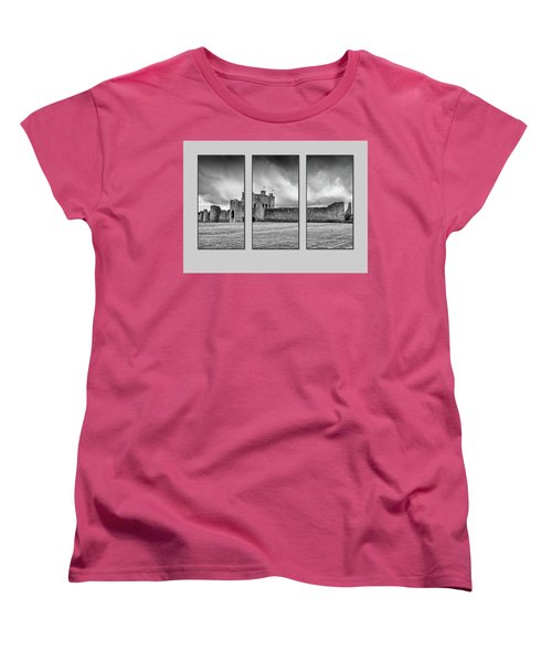 Trim Castle Triptych  Women's T-Shirt (Standard Cut) by Martina Fagan