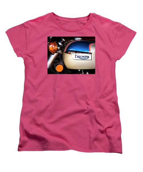 Triumph Motorcyle Women's T-Shirt (Standard Cut) by Andy Crawford