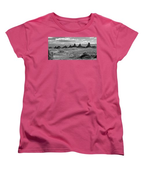 Trona Pinnacles Peaks Women's T-Shirt (Standard Cut) by Marius Sipa