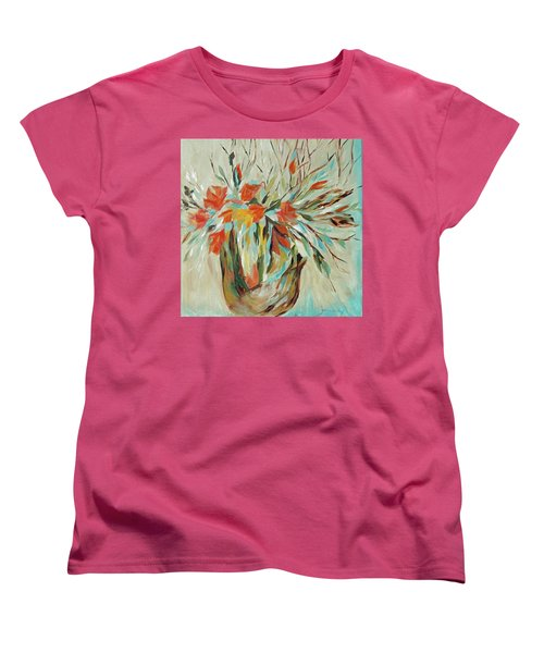 Women's T-Shirt (Standard Cut) featuring the painting Tropical Arrangement by Joanne Smoley