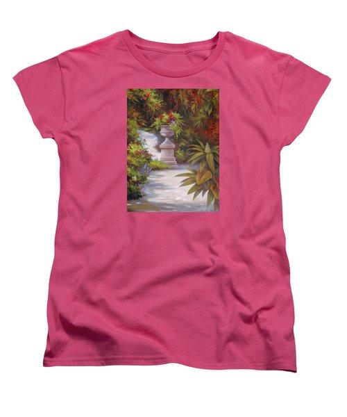 Tropical Garden Women's T-Shirt (Standard Cut) by Vivien Rhyan