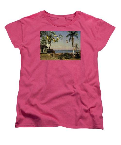 Tropical Scene Women's T-Shirt (Standard Cut) by Albert Bierstadt