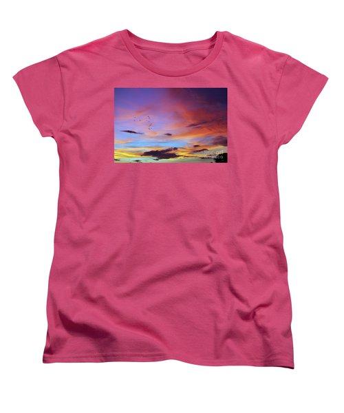 Tropical North Queensland Sunset Splendor  Women's T-Shirt (Standard Cut) by Kerryn Madsen-Pietsch