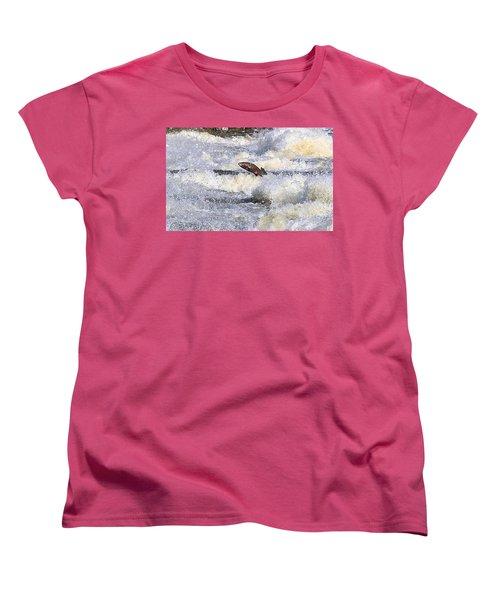 Women's T-Shirt (Standard Cut) featuring the digital art Trout by Robert Pearson
