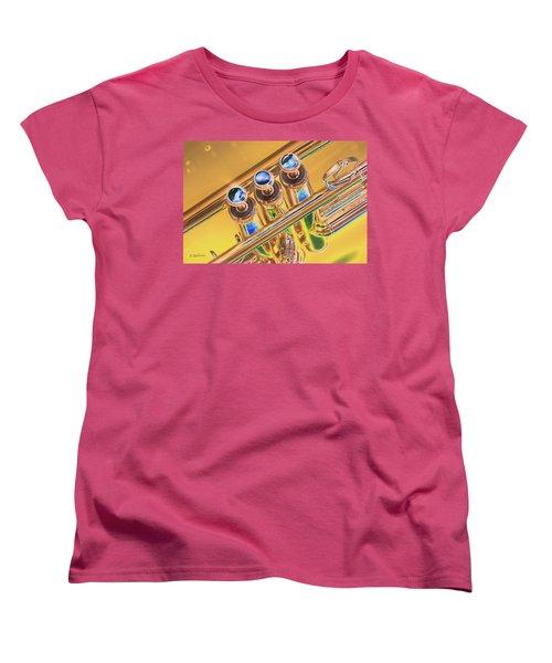 Trumpet Keys Women's T-Shirt (Standard Cut) by Pamela Williams