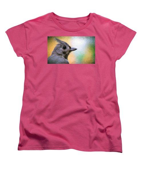 Tufted Titmouse Women's T-Shirt (Standard Cut) by Diane Giurco