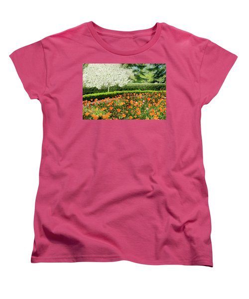 Women's T-Shirt (Standard Cut) featuring the photograph Tulip Cafe by Diana Angstadt