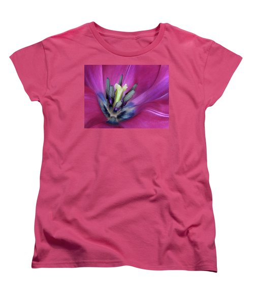 Women's T-Shirt (Standard Cut) featuring the photograph Tulip Intimacy by David and Carol Kelly