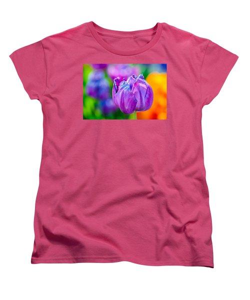 Women's T-Shirt (Standard Cut) featuring the photograph Tulips Enchanting 47 by Alexander Senin