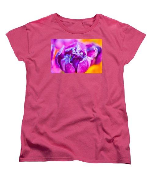 Women's T-Shirt (Standard Cut) featuring the photograph Tulips Enchanting 50 by Alexander Senin