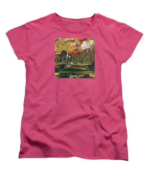 Turmoil Women's T-Shirt (Standard Cut) by Alan Mager