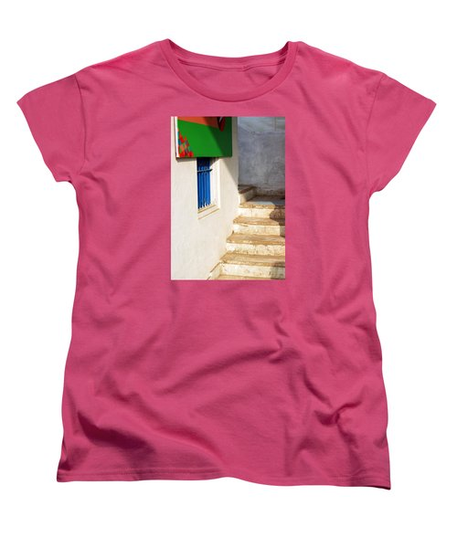 Turn Left Women's T-Shirt (Standard Cut) by Prakash Ghai