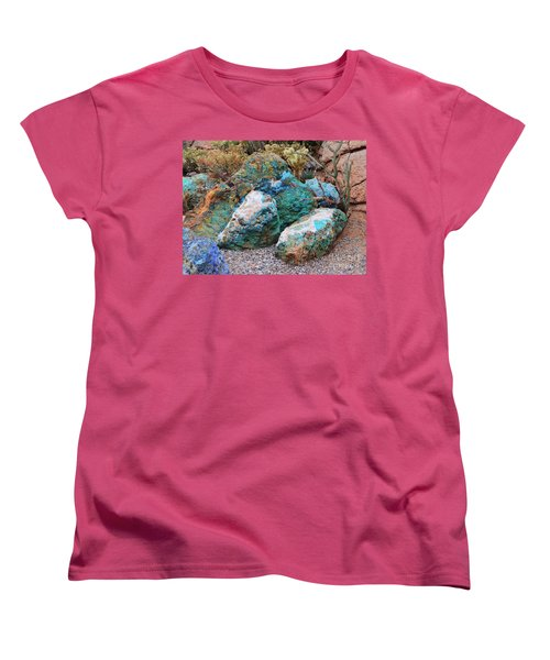 Turquoise Rocks Women's T-Shirt (Standard Cut) by Donna Greene