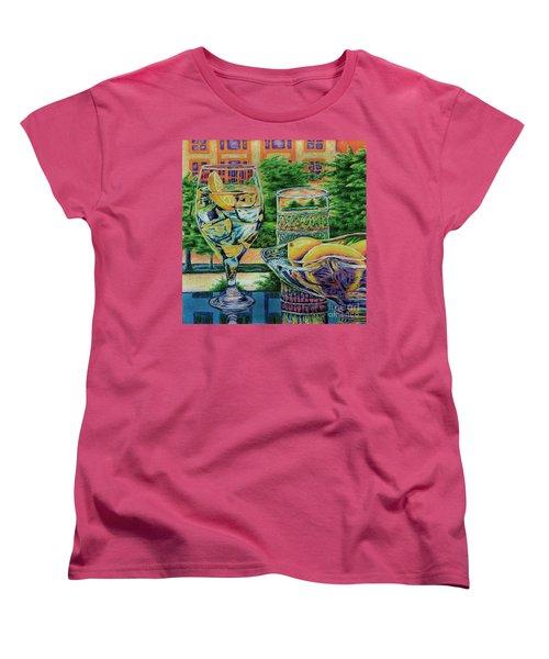 Women's T-Shirt (Standard Cut) featuring the drawing Tuscan Summer Lemonade  by Peter Piatt