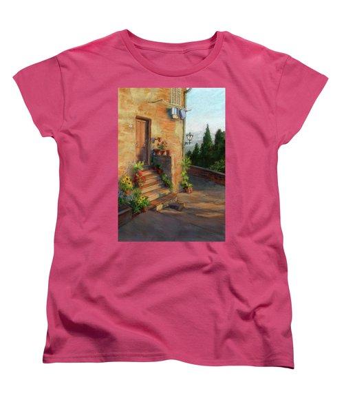 Tuscany Morning Light Women's T-Shirt (Standard Cut) by Vikki Bouffard