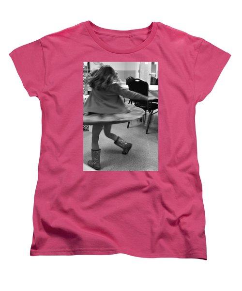 Twirling Girl  Women's T-Shirt (Standard Cut) by Mary Ward