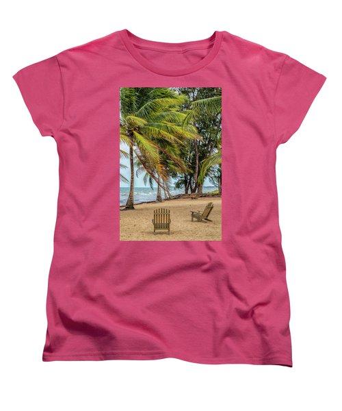 Two Chairs In Belize Women's T-Shirt (Standard Cut)