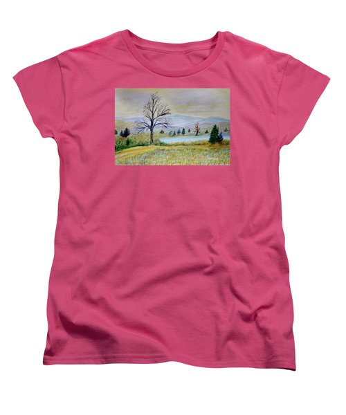 Two Tracking Women's T-Shirt (Standard Cut) by Dick Bourgault
