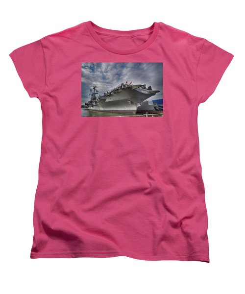 U S S  Intrepid     Women's T-Shirt (Standard Cut)