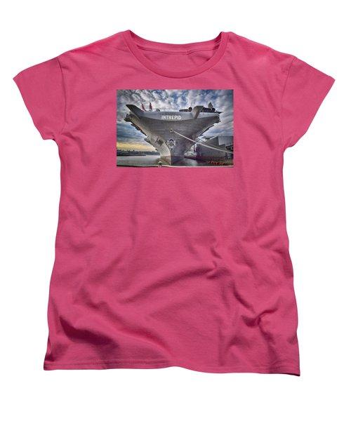 U S S   Intrepid Women's T-Shirt (Standard Cut) by Dyle Warren