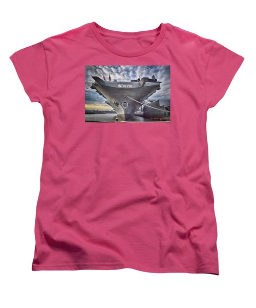 U S S   Intrepid's Bow  Women's T-Shirt (Standard Cut)
