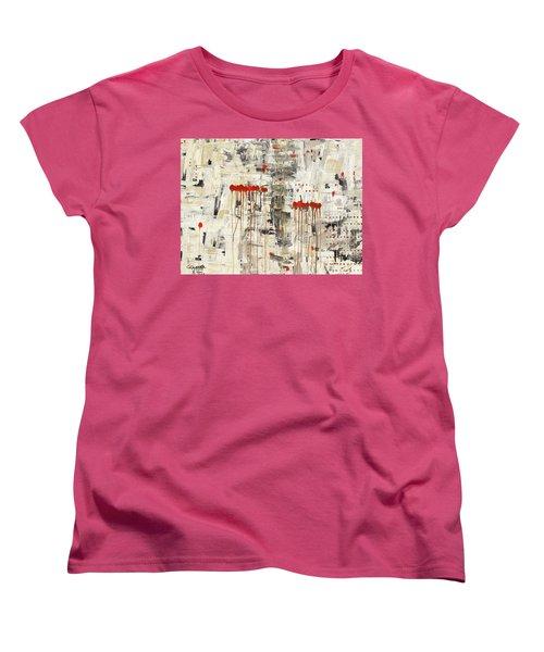 Women's T-Shirt (Standard Cut) featuring the painting Un Pour Tous by Carmen Guedez