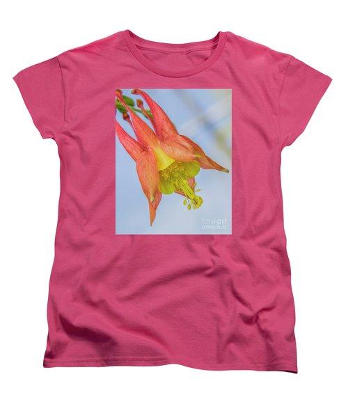 Under A Wild Columbine Women's T-Shirt (Standard Cut)
