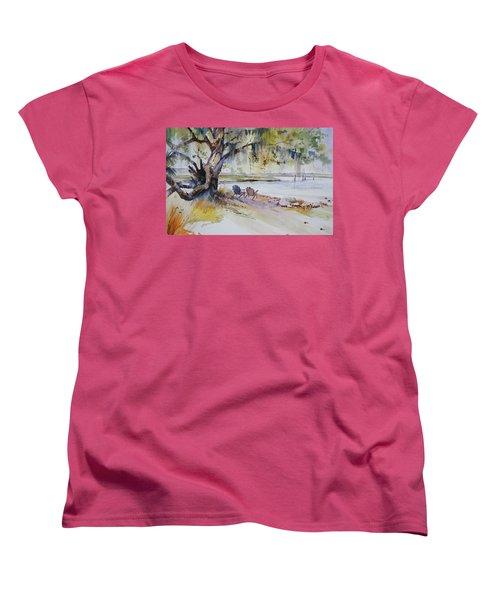 Under The Live Oak Women's T-Shirt (Standard Cut) by P Anthony Visco