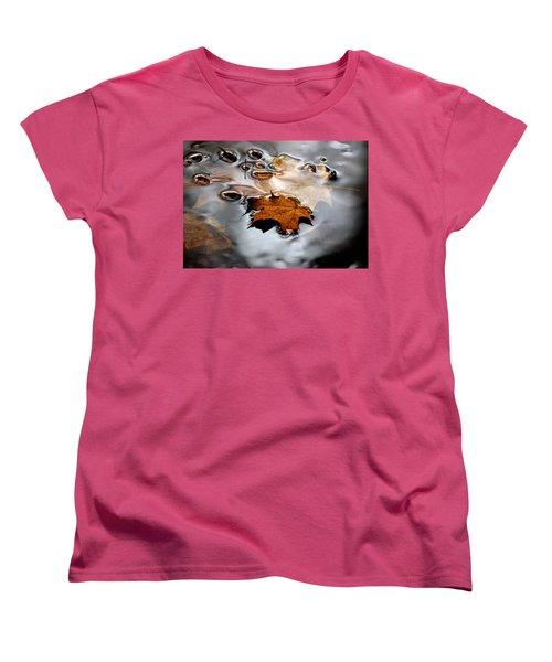 Under Water Fall Women's T-Shirt (Standard Cut) by LeeAnn McLaneGoetz McLaneGoetzStudioLLCcom