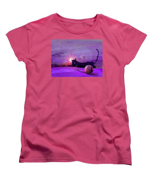 Unravelling Women's T-Shirt (Standard Cut) by Miki De Goodaboom