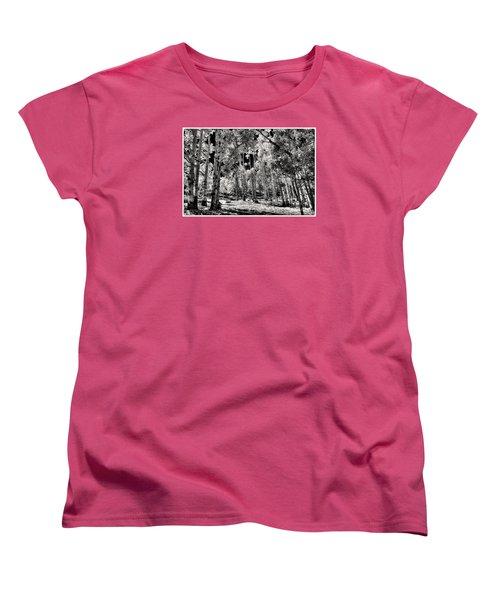 Women's T-Shirt (Standard Cut) featuring the digital art Up Among The Aspens by William Fields