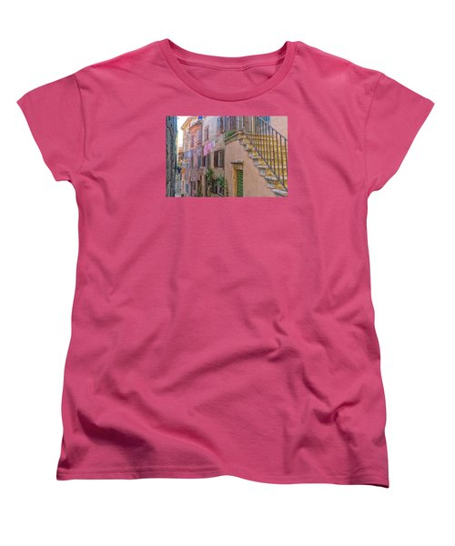 Urban View With Laundary Women's T-Shirt (Standard Cut) by Uri Baruch