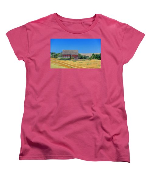 Used To Be Red Barn Women's T-Shirt (Standard Cut) by Susan Crossman Buscho