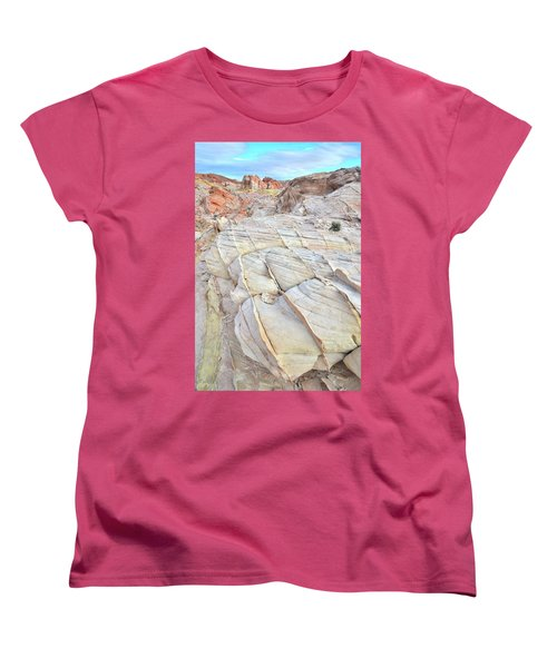 Valley Of Fire Sandstone Women's T-Shirt (Standard Cut) by Ray Mathis