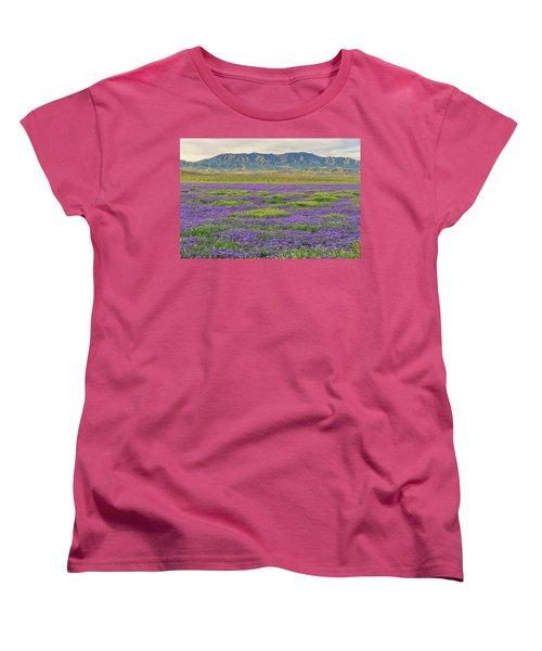 Valley Phacelia And Caliente Range Women's T-Shirt (Standard Cut) by Marc Crumpler