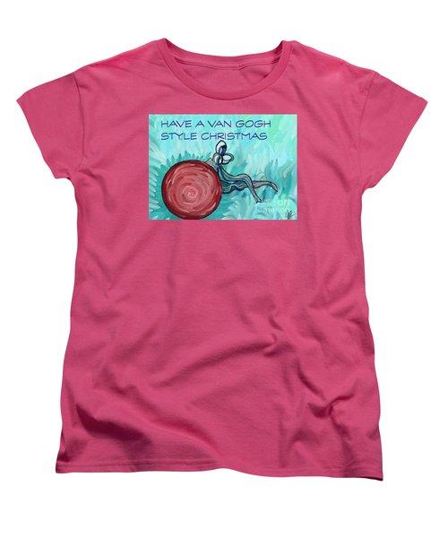 Van Gogh Style Xmas  Women's T-Shirt (Standard Cut) by Gallery Messina