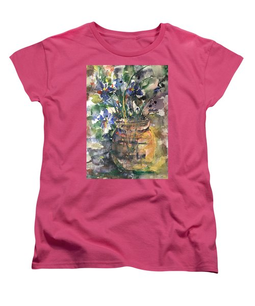 Vase Of Many Colors Women's T-Shirt (Standard Cut) by Robin Miller-Bookhout