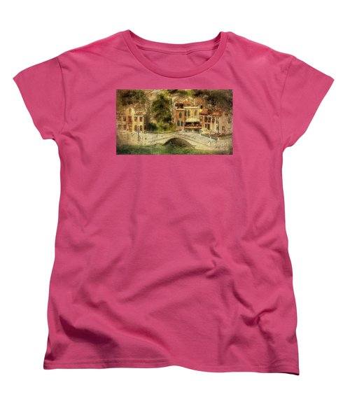 Venice City Of Bridges Women's T-Shirt (Standard Cut) by Lois Bryan