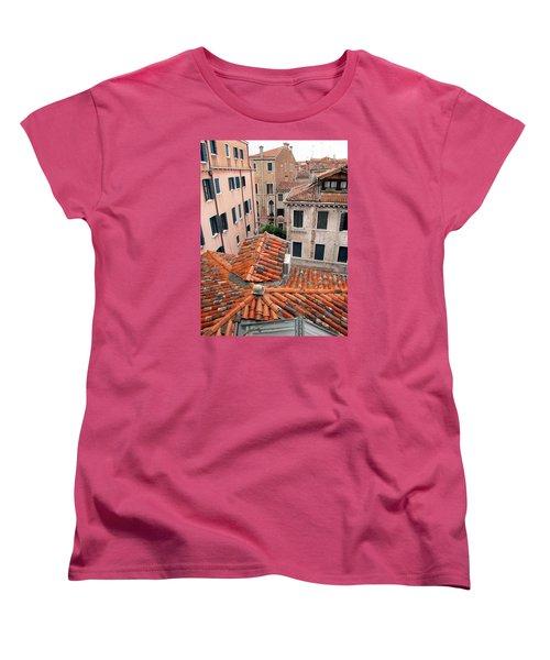 Venice Roof Tiles Women's T-Shirt (Standard Cut) by Lisa Boyd
