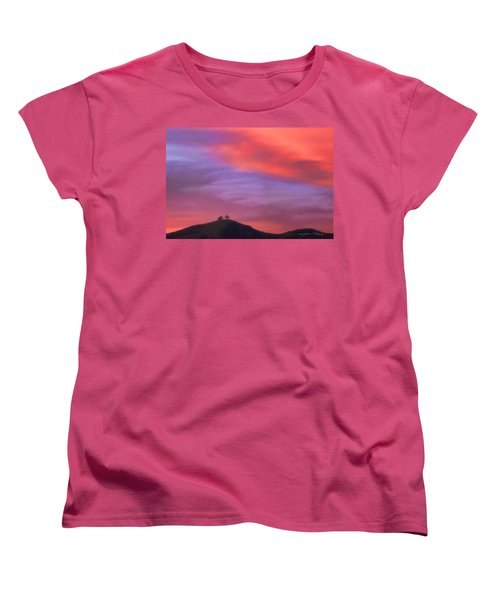 Women's T-Shirt (Standard Cut) featuring the photograph Ventura Ca Two Trees At Sunset by John A Rodriguez