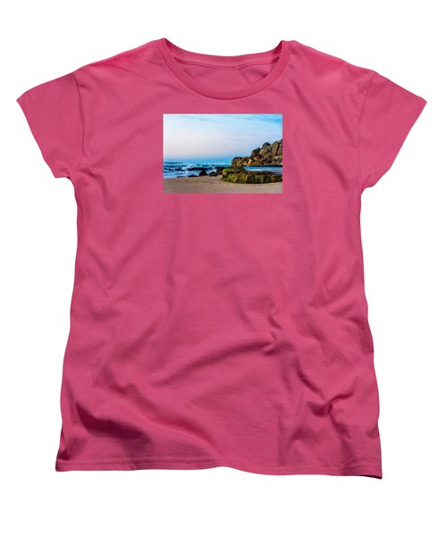 Women's T-Shirt (Standard Cut) featuring the photograph Vibrant Seascape At Twilight by Marion McCristall
