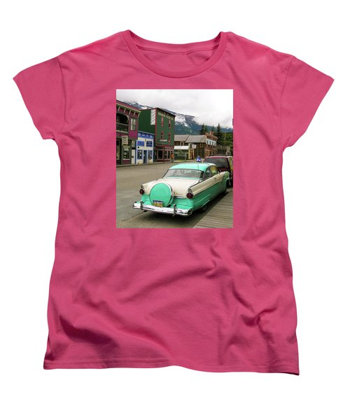 Women's T-Shirt (Standard Cut) featuring the photograph Vicky In Skagway by Jim Mathis