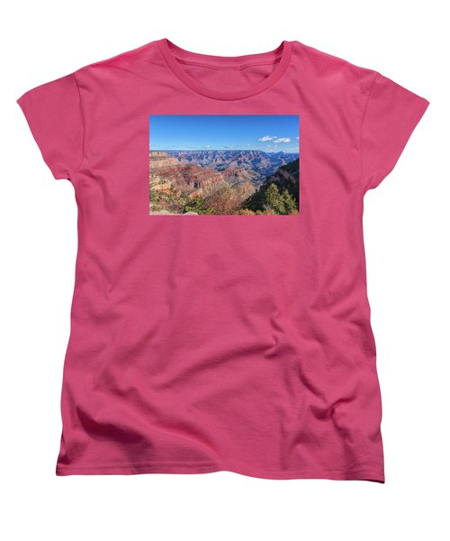 Women's T-Shirt (Standard Cut) featuring the photograph View From The South Rim by John M Bailey