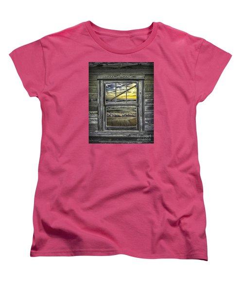 View From Weathered Beach Cottage Women's T-Shirt (Standard Cut) by Walt Foegelle