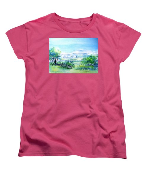 View Through The Gap,wicklow  Women's T-Shirt (Standard Cut) by Trudi Doyle