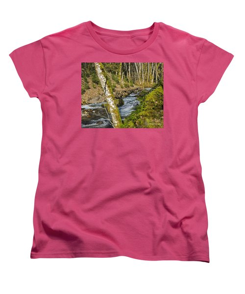 Views Of A Stream, I Women's T-Shirt (Standard Cut) by Chuck Flewelling